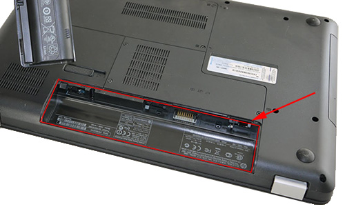 laptop battery compartment